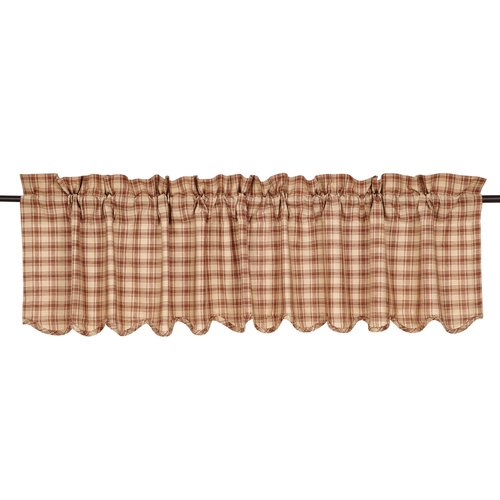 August Grove Sky Valley Scalloped Curtain Valance
