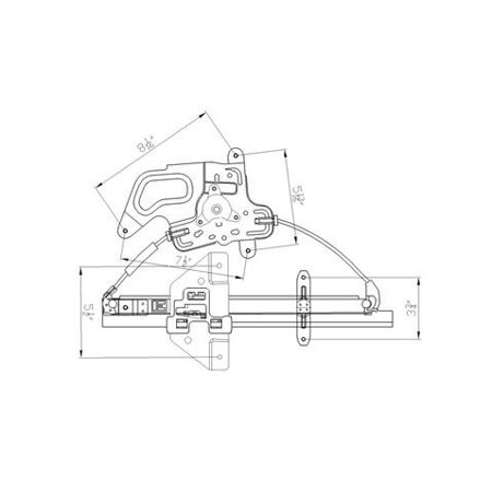 NEW REAR LEFT WINDOW REGULATOR FITS 99-05 PONTIAC GRAND AM