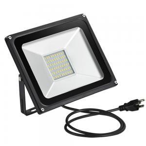 50W LED Flood Light Warm White with US Plug 110V