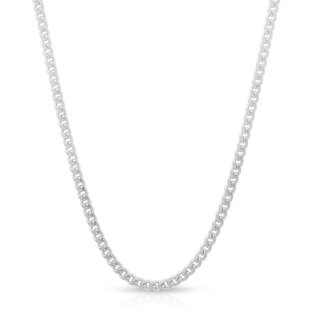Thick Hemp Necklace (Sterling Silver Italian 2mm Miami Cuban Curb Link Thick ITProLux Solid 925 Necklace Chain 16
