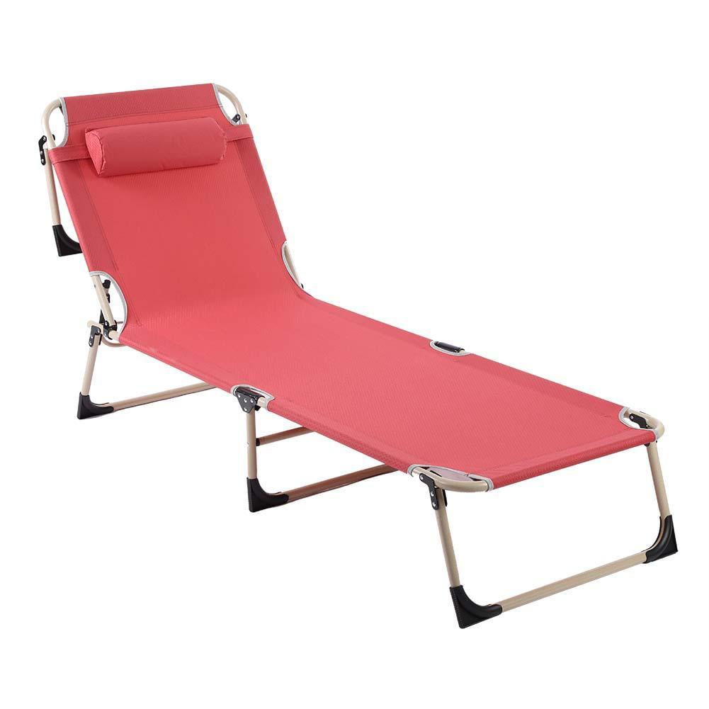 Fugacal Folding Reclining Chair Beach Lounge Portable