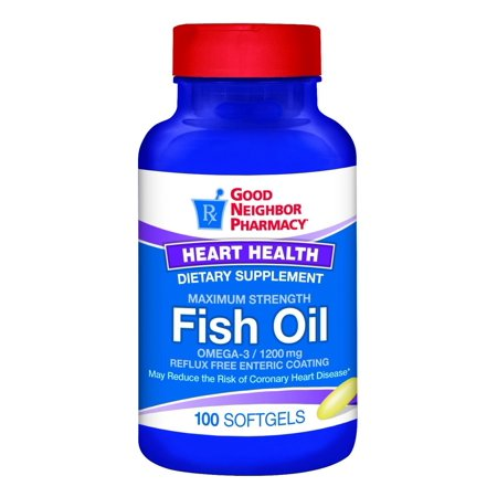 GNP Fish Oil 1,200mg Omega-3 Supplement 100 Enteric Coated (Omega 3 Fish Oil Good For Hair Growth)
