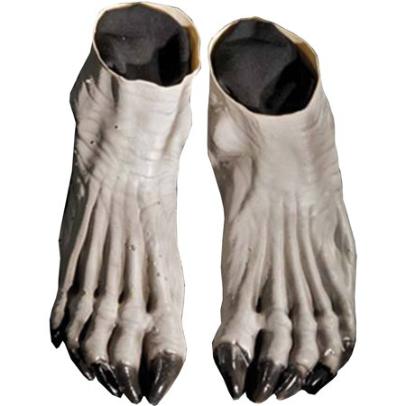 Grey Werewolf Feet Adult Halloween Accessory