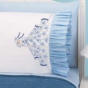 Herrschners Jessica Ruffled Pillowcase Pair Stamped Embroidery