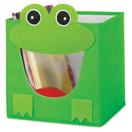 Whitmor 6256-4925-FROG Green Frog Collapsible Storage Cube (Green Cube)