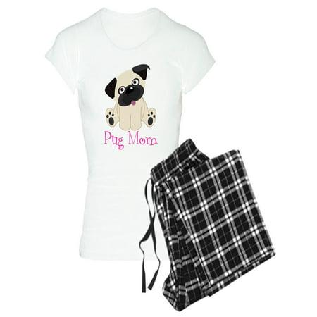 CafePress - Pug Mom Pajamas - Women's Light Pajamas
