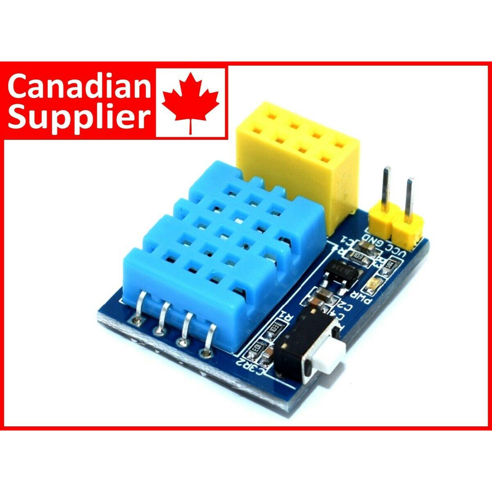 ESP-01 Temperature Humidity Sensor 16bit Digital Interface DHT11 Arduino  Library