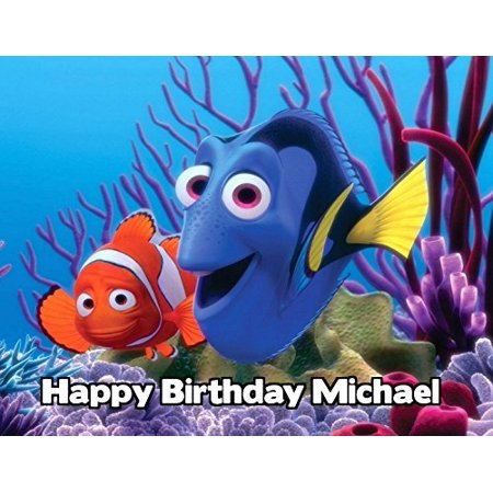 Finding Nemo Image Photo Cake Topper Sheet Personalized Custom Customized Birthday Party - 1/4 Sheet - 79896](Finding Nemo Custom Invitations)