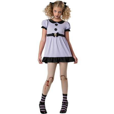 Tween Dead Dolly Girl Costume by Incharacter Costumes LLC 18068 - Day Of The Dead Girl Costumes