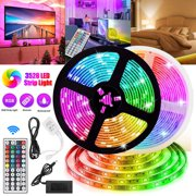 LED Strip Lights, EEEkit 16.4/32.8ft RGB LED Light Strip SMD 3528 LED Tape Lights, Flexible Color Changing LED Strip Lights with Remote Controller and 12V Power Supply for Home, Bedroom, Kitchen