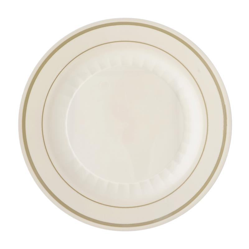 BalsaCircle 12 pcs Disposable Plastic Plates with Trim for Wedding Reception Party Buffet Catering Tableware  sc 1 st  Walmart.com & BalsaCircle 12 pcs Disposable Plastic Plates with Trim for Wedding ...