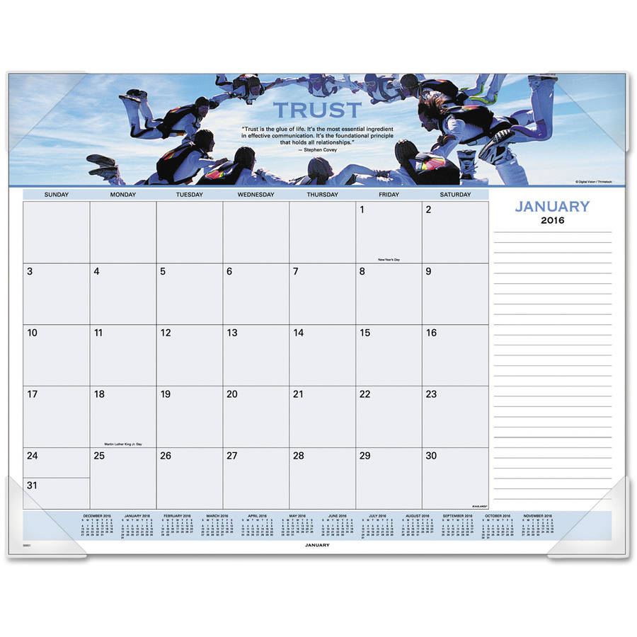 At-A-Glance Motivational Panoramic Desk Pad, 22 x 17, Motivational, 2017 - AAG89801