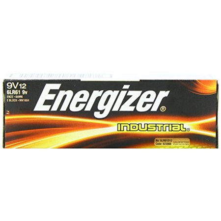Energizer R  9 Volt Alkaline Industrial Batteries  Box Of 12