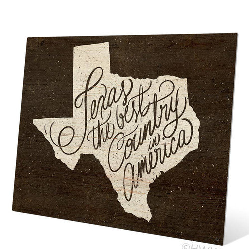Click Wall Art Texas The Best Country In America Textual Art Plaque