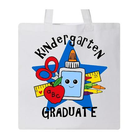 School Supplies Kindergarten Grad Tote Bag White One - Kindergarten Graduation Supplies