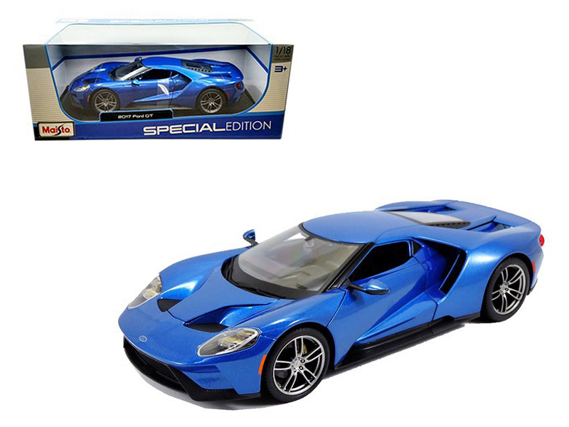 Ford Gt Blue  Cast Model Car By Maisto