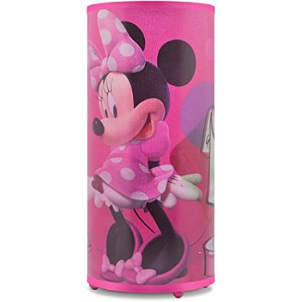 Disney Minnie Mouse Cylinder Glitter Lamp, Can be used as ...