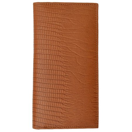 New Genuine Leather Checkbook Cover Case Snake Pattern 156 SN