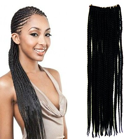 Hand Crochet Braids Hair Box Braid Style Senegalese Extension, Length 18