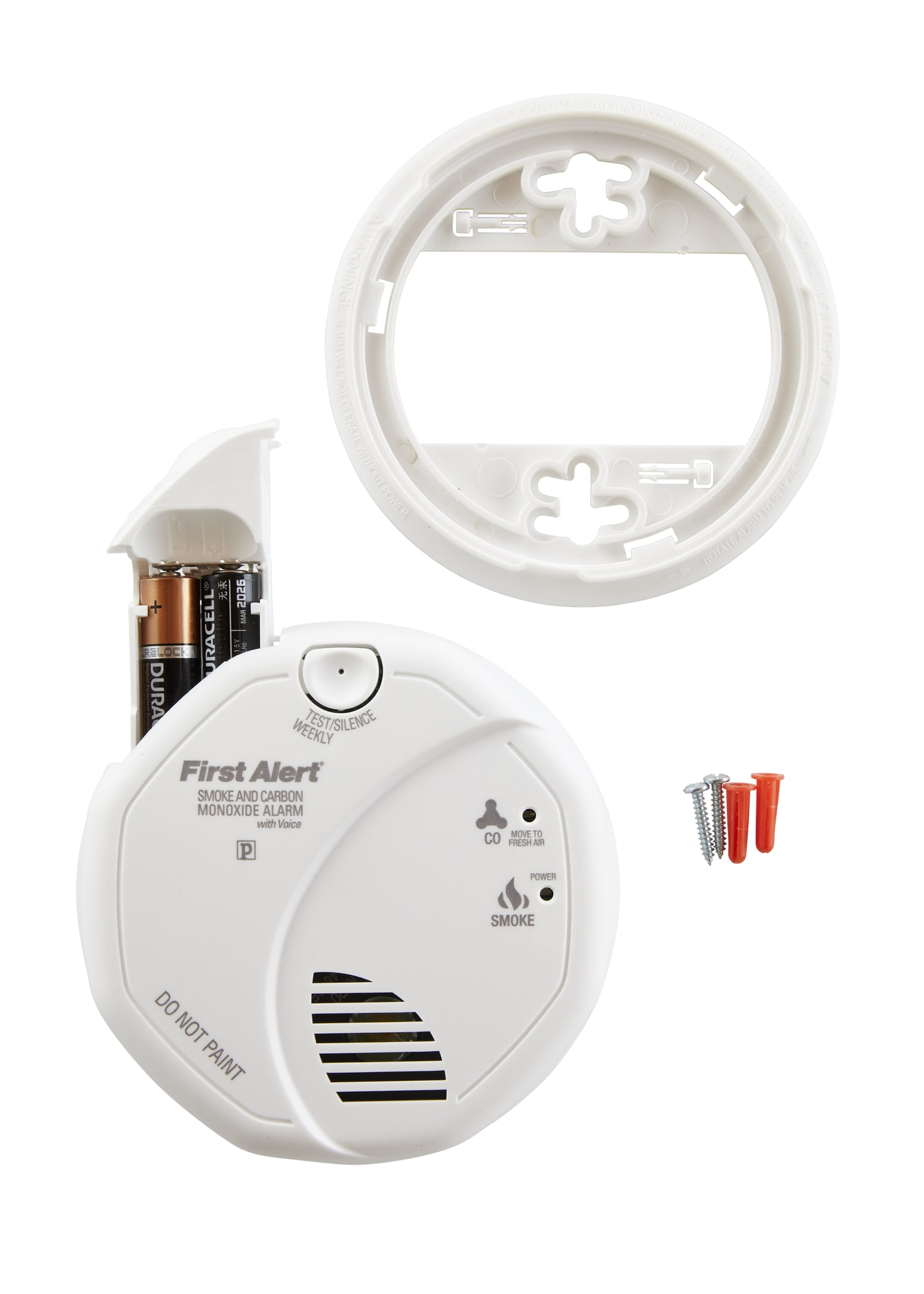 3 Pack First Alert SCO7CN Combination Smoke and Carbon Monoxide Detector with Voice and Location Battery Operated