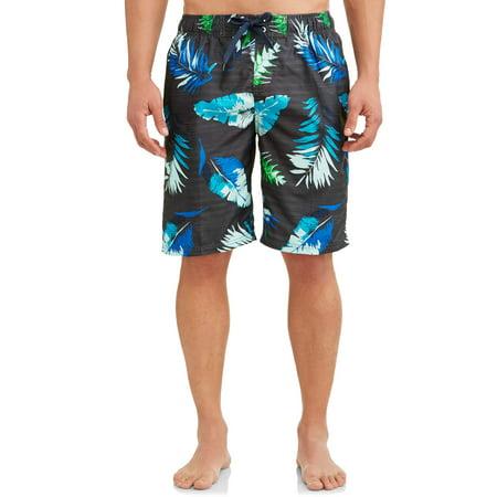 Kanu Surf Men's Cozumel Print Long Trunk Swimsuit ()