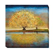Artistic Home Gallery 'Season of Reflection' by Melissa Graves-Brown Painting Print on Wrapped Canvas