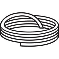 CS HYDE G15-TB-.070-25 Cord Stock, White, 25 ft.L, PTFE, 2900 psi