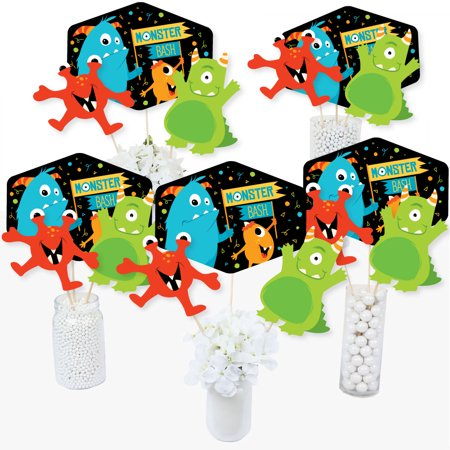 Monster Bash - Little Monster Birthday Party or Baby Shower Party Centerpiece Sticks - Table Toppers - Set of 15](Baby Shower Table Centerpiece Ideas)