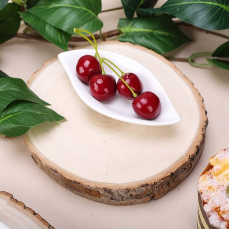 BalsaCircle 5-7-Inch wide Natural Round Poplar Wooden Slices Party Tabletop Centerpieces - Wedding Crafts Discounted Decorations - Wood Slices For Wedding Centerpieces