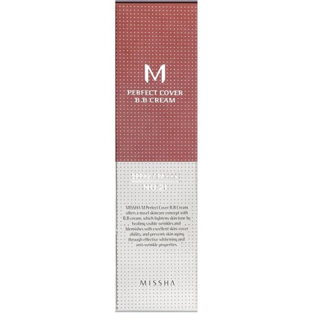 MISSHA Perfect Cover BB Cream No 21 Light Beige, 1.69