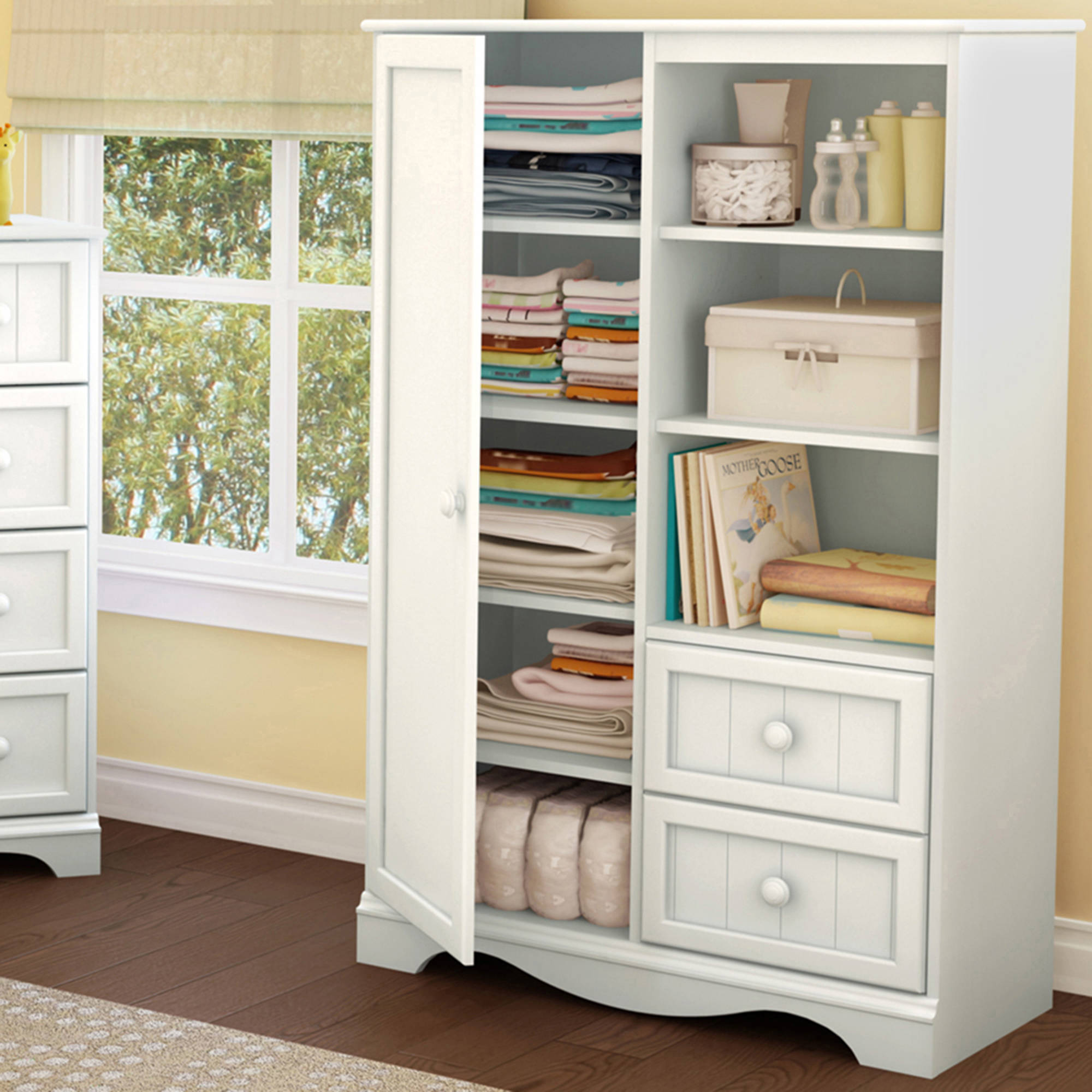 South Shore Savannah Armoire with Drawers, Multiple Finishes