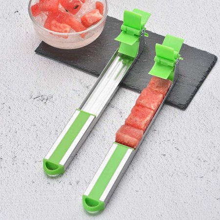 Watermelon Windmill Cutter Slicer, Stainless Steel Melon Cuber Knife,New Kitchen Gadgets Stainless Steel One Step Cutter Watermelon Cubes Slicer and Corer - image 3 of 7