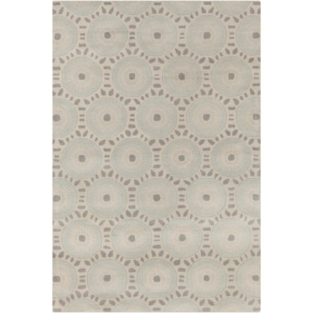 Filament Hand-tufted Allie Geometric Cream/ Grey Wool Rug - 5' x 7'6 ()