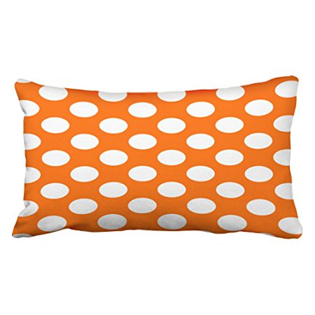 Polka Dot Pillowcases Best WinHome Halloween Orange And White Polka Dot Pattern Throw Pillow