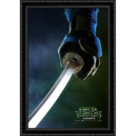 Teenage Mutant Ninja Turtles 28x40 Large Black Ornate Wood Framed Canvas Movie Poster Art - Large Ninja Turtle