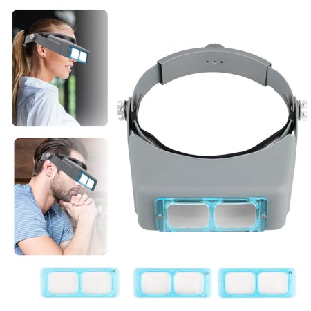 Headband Magnifier, EEEKit 4 Lens Jewelers Opitcal Headband Magnifying Glass Binocular Eye Loupe Welding Head Visor  Watch Repair