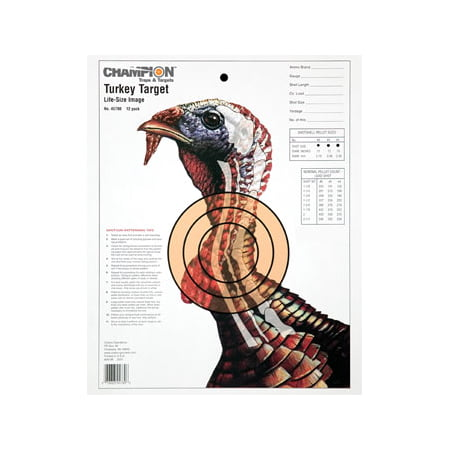 Champion Practice Targets 45780 Turkey Lifesize (12 Pk)