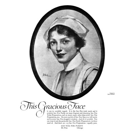 Ad San Tox 1918 Namerican Advertisement For San Tox Health And Beauty Products Illustration 1918 Poster Print By Granger Collection