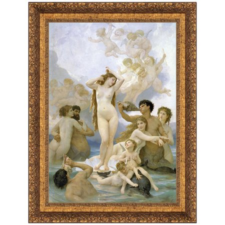 Design Toscano La Naissance de Venus (The Birth of Venus), 1859 by William Adolphe Bouguereau Framed Painting Print