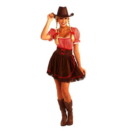 Cowgirl Cowpoke Cutie Costume Dress w/Corset Adult Standard