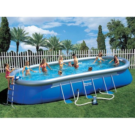 Bestway 12 39 X18 39 X48 Rectangular Steel Pro Above Ground Swimming Pool