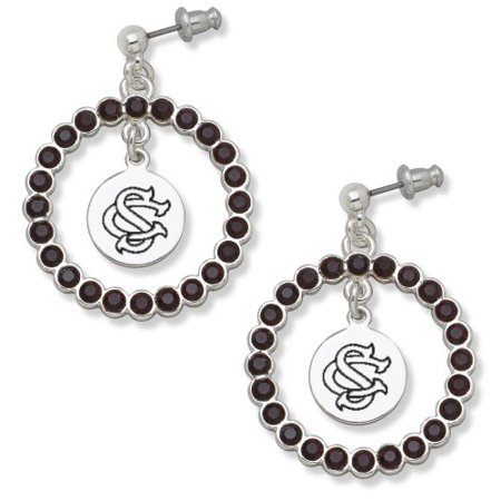 University Of South Carolina Univ Of So Carolina Spirit Crystal Wreath Logo Earrings