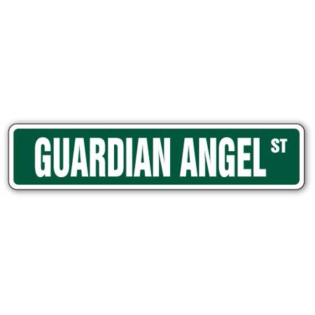 Wide Angle Quartz Light (GUARDIAN ANGEL Street Sign Childrens Name Room Sign | Indoor/Outdoor |  24