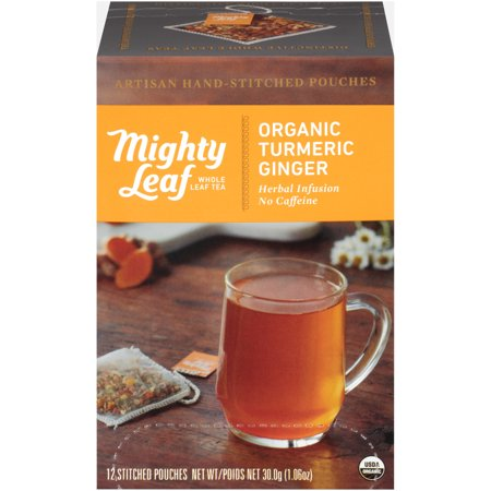 Mighty Leaf, Organic Turmeric Ginger Tea, Tea Bags, 12 Ct