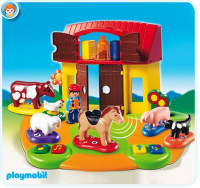 Playmobil Interactive Play and Learn 1.2.3 Farm Set Playmobil 6766 by Playmobil