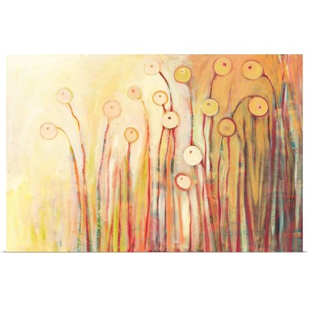 Great BIG Canvas | Rolled Jennifer Lommers Poster Print entitled Dreaming of Marmalade in the Poppy (Marmalade Garden)