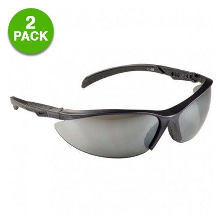 2 Pack  Msa Safety Works Contoured Adjustable Tinted Safety Glasses
