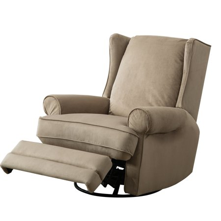Bonzy Modern Wingback Swivel Gliding Recliner Chairs Soft