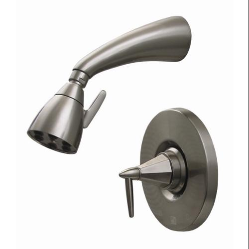 Whitehaus Collection  614. 858SH-BN 2. 62 inch Blairhaus Monroe pressure balance valve with showerhead and octagon-shaped