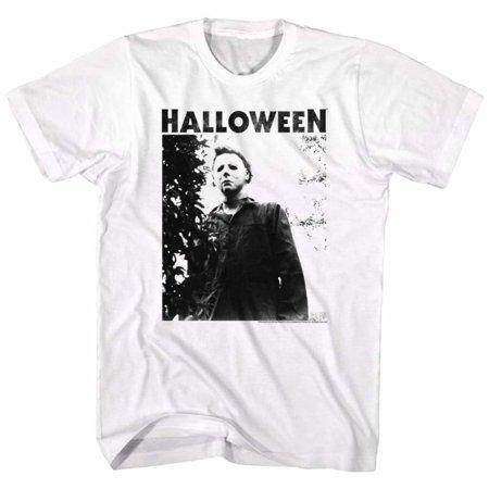 Halloween Movies Watching Big Title Adult Short Sleeve T - Halloween Movie Original Title